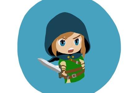 Drawing (fan art) of Link