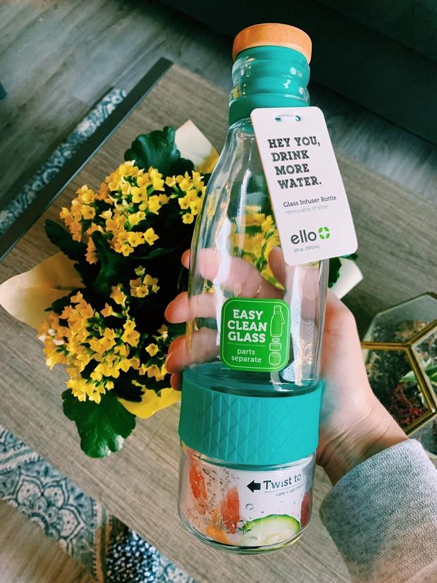 miranda torres glass water bottle