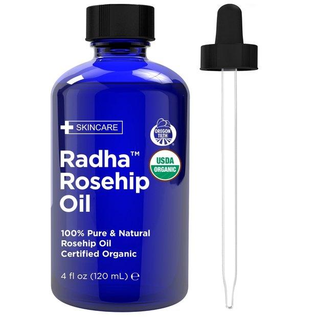 jar of rosehip oil