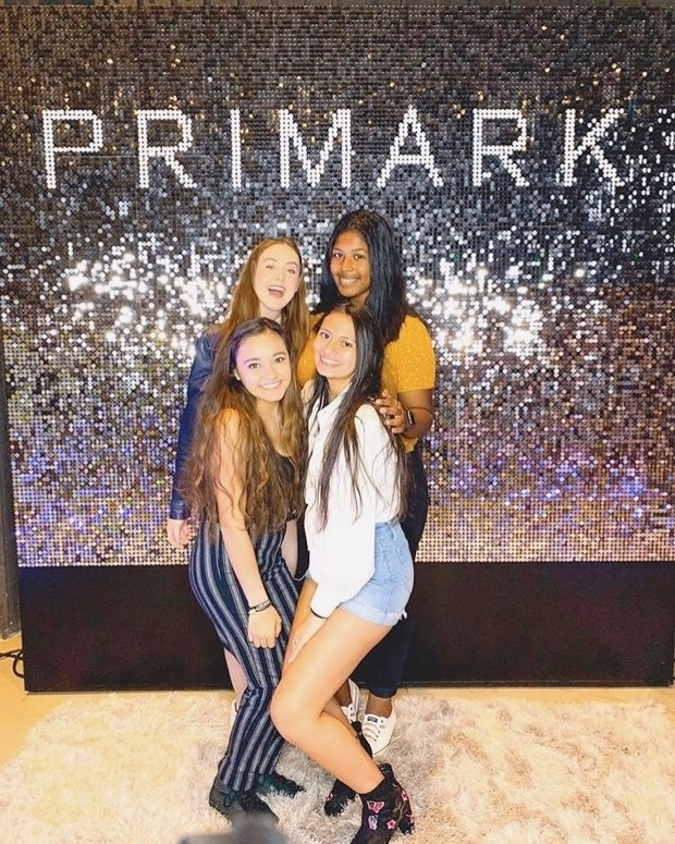 friends at primark booth