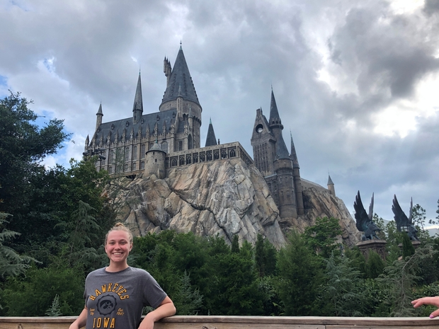 me in front of the hogwarts castle