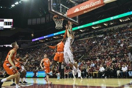 FSU basketball dunk
