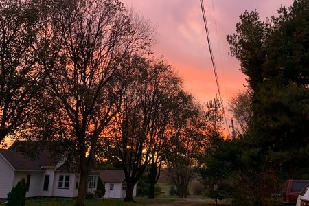 sunset outside my house