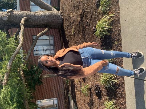 Black girl posing