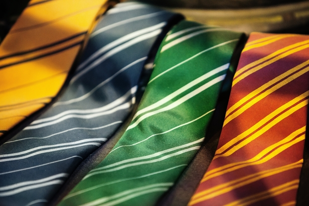 hogwarts house ties harry potter