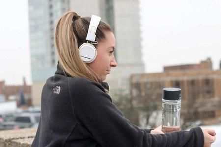 GIrl with headphones
