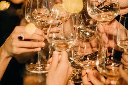people cheers drinks