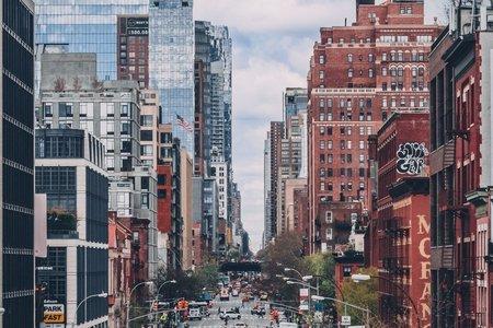 new york city street taxi