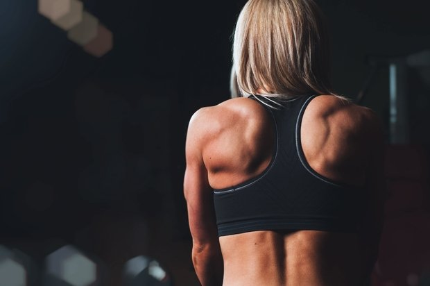 Woman's back muscles