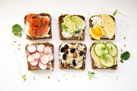 Assortment of toasts