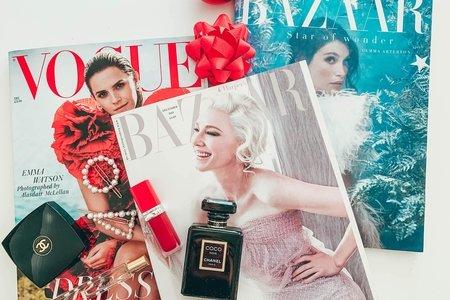 Vogue, Harpers Bazaar magazines