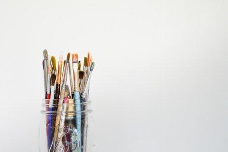 paintbrushes against white background Hudson