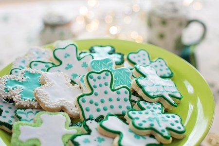 Sugar cookies with green icing