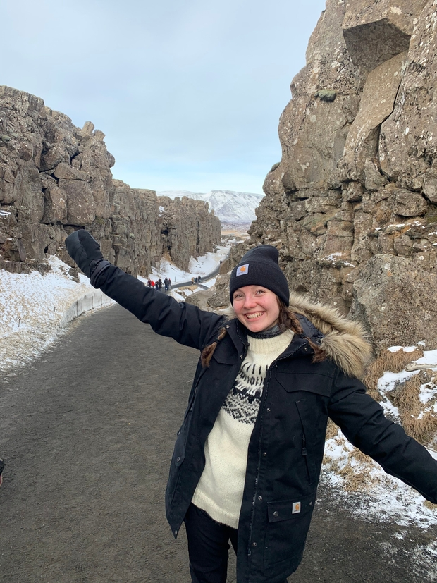 Myself between the Eurasion and North American tectonic plates