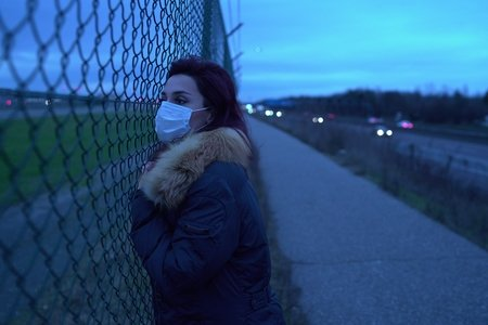 Woman in Mask Virus