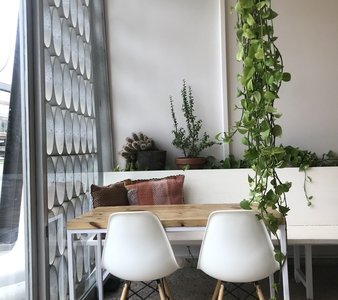 Picture of a table and plants.