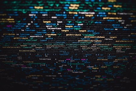 coding on a screen