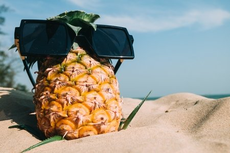 Pineapple with Sunglasses (rep image)