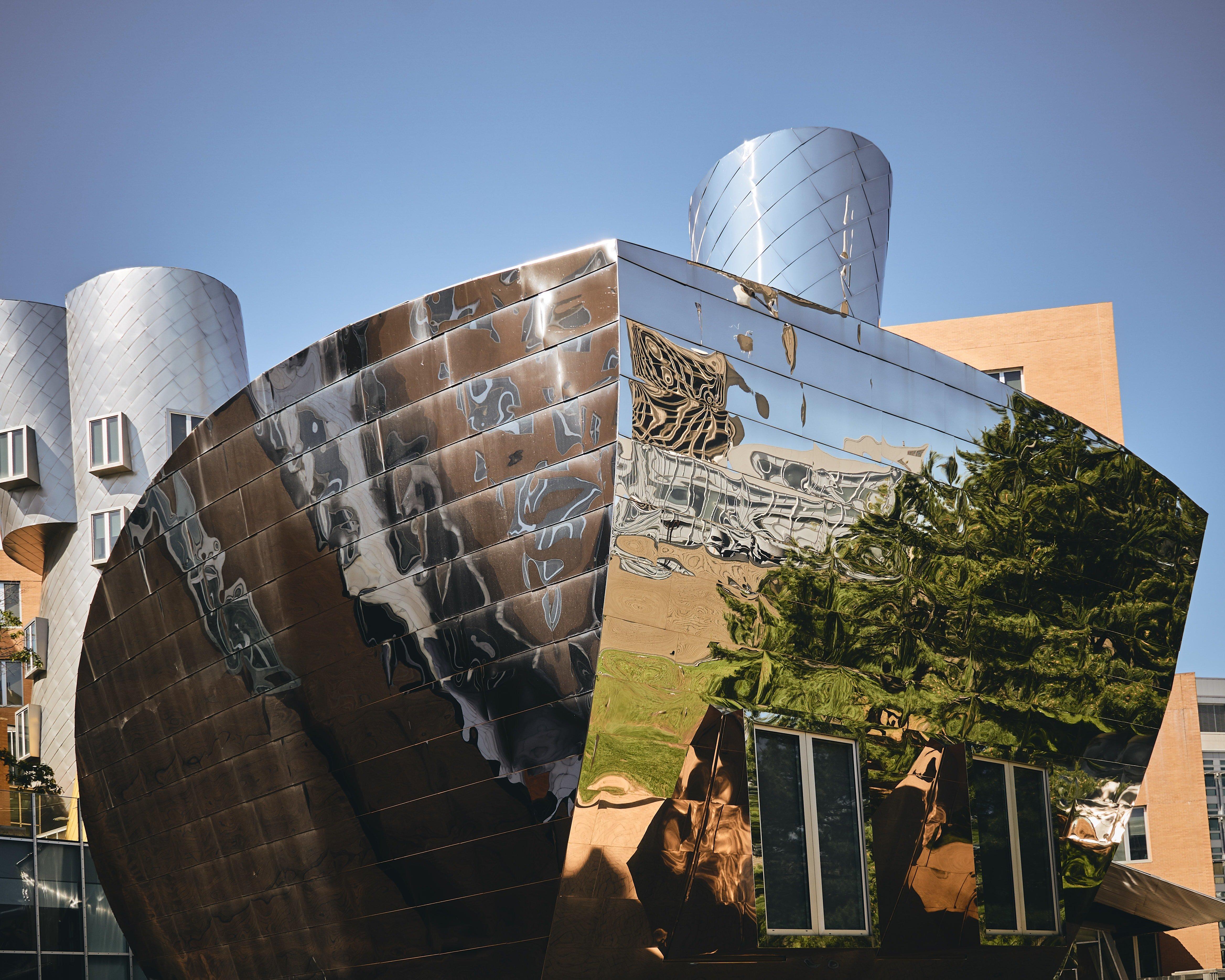 photo of sculpture on MIT campus in cambridge