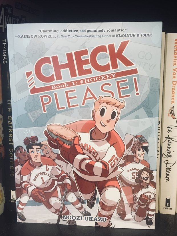 "Young adult graphic novel titled ""Check, Please!"" is needed for part of my article about young adult books"