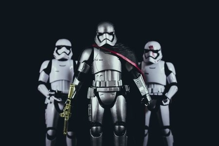 three stormtroopers