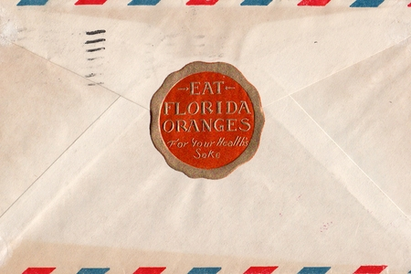 striped letter