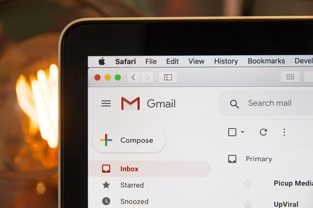 laptop with gmail