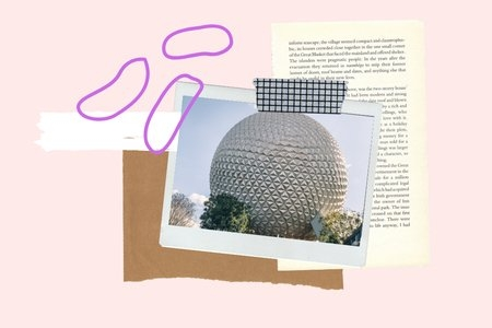 article graphic, EPCOT, Spaceship Earth