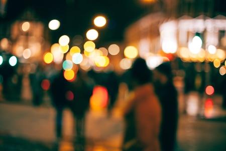 blurred city image