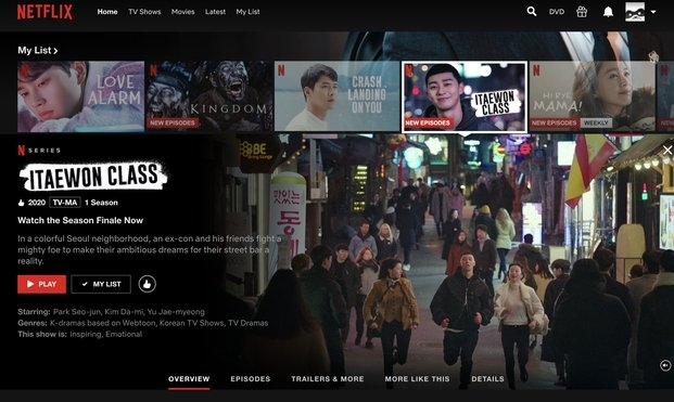 screenshots of own netflix account and shows that are watched