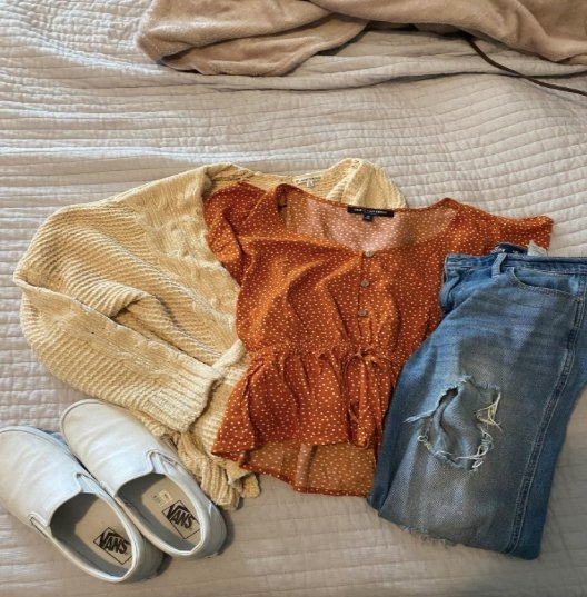 Clothing from a thrift store
