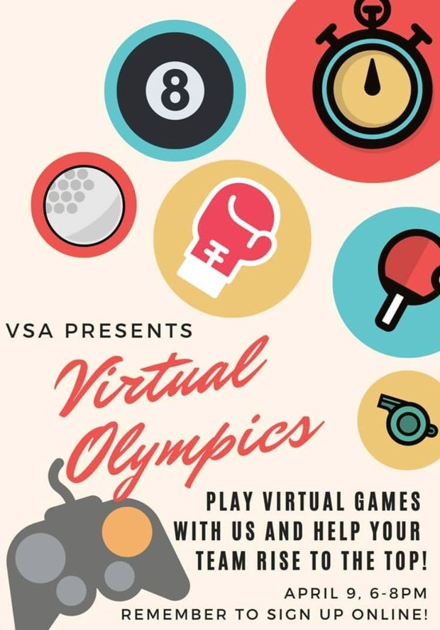 VSA virtual olympics flyer