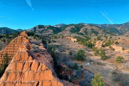 Blue skies in colorado springs