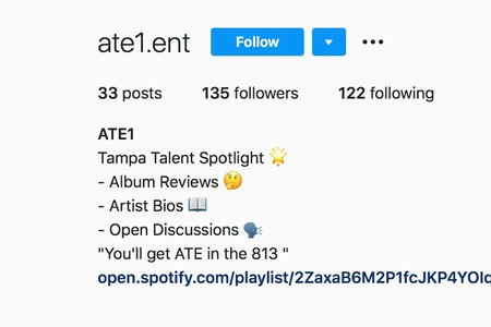 screenshot of Instagram account
