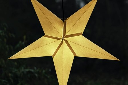 Upside down yellow star