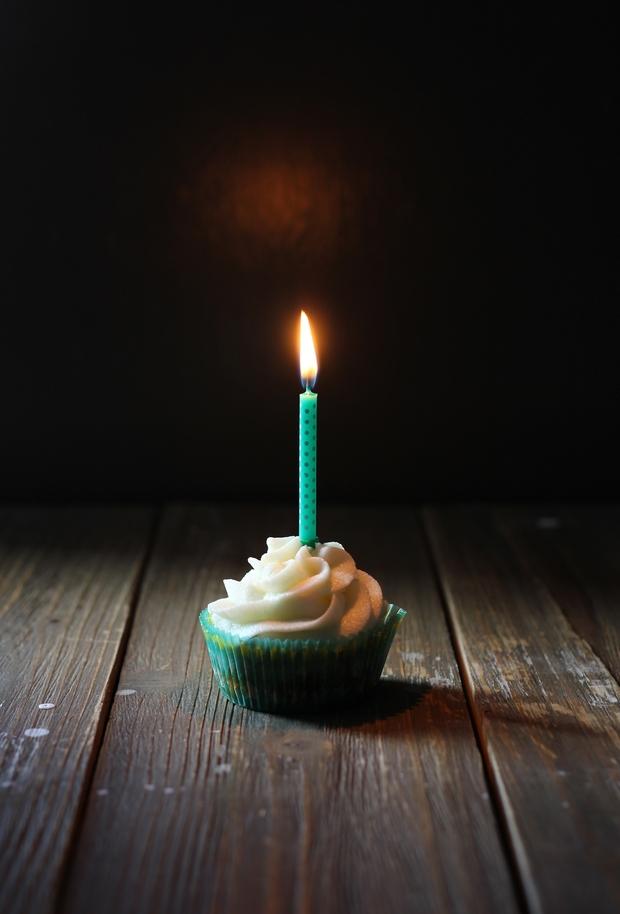sad birthday cupcake