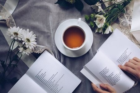 poetry book & tea