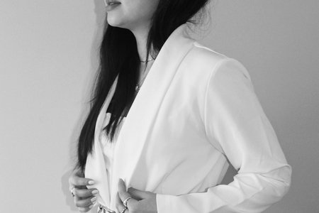 white monochrome outfit 2
