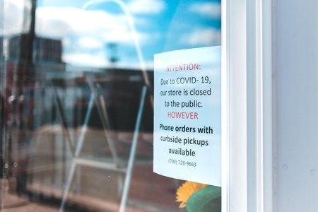 Storefront Coronavirus note