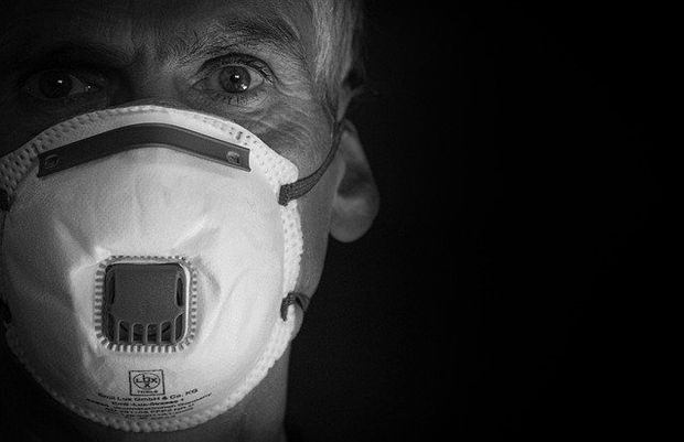 Man wearing a mask for health purpose