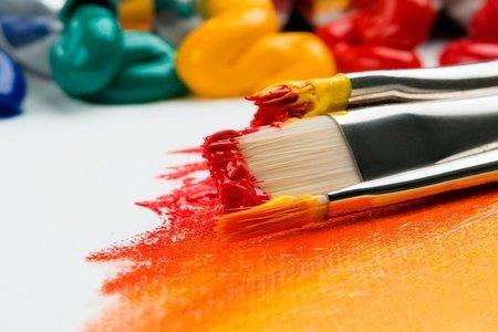 three paint brushes