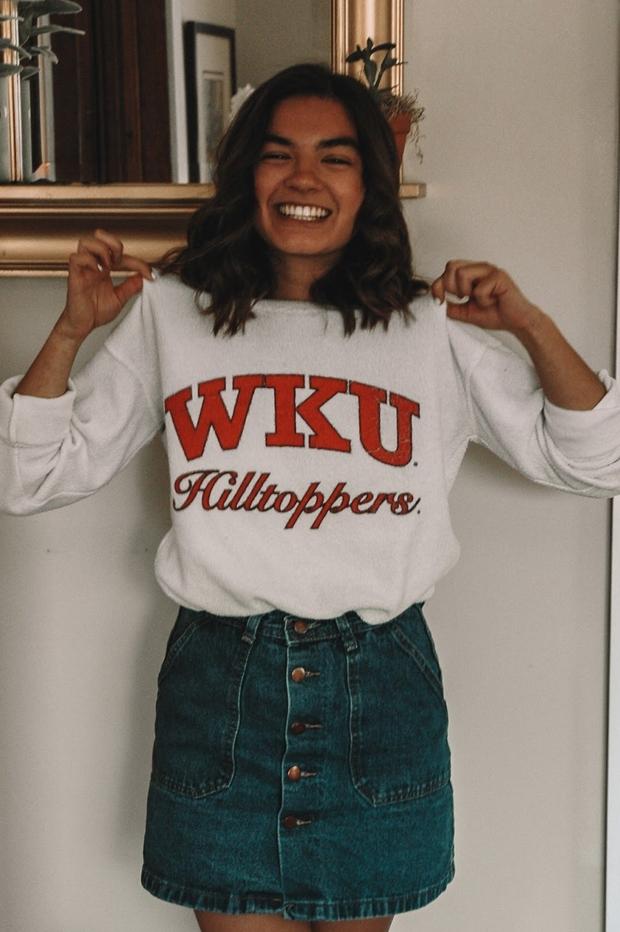 wku girl with shirt izzy