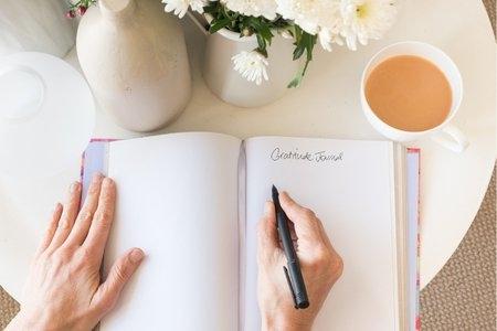 Pretty picture of a gratitude journal