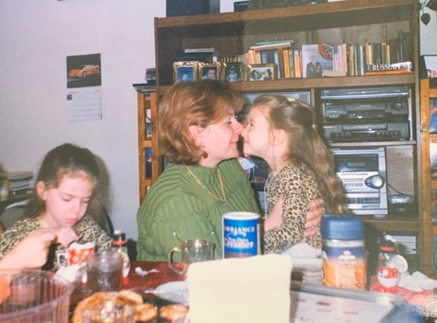 A picture of my mom and sister 16 years ago