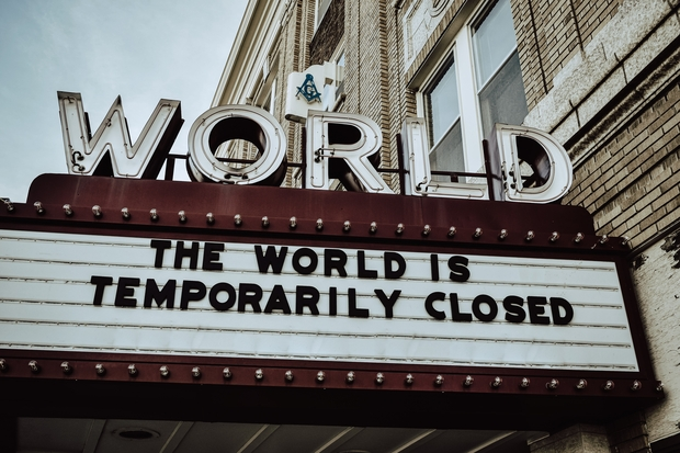 A theatre sign reading