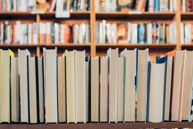 assorted books on a library shelf