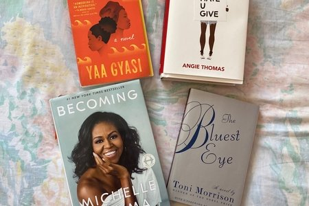 picture of four books by Black female authors