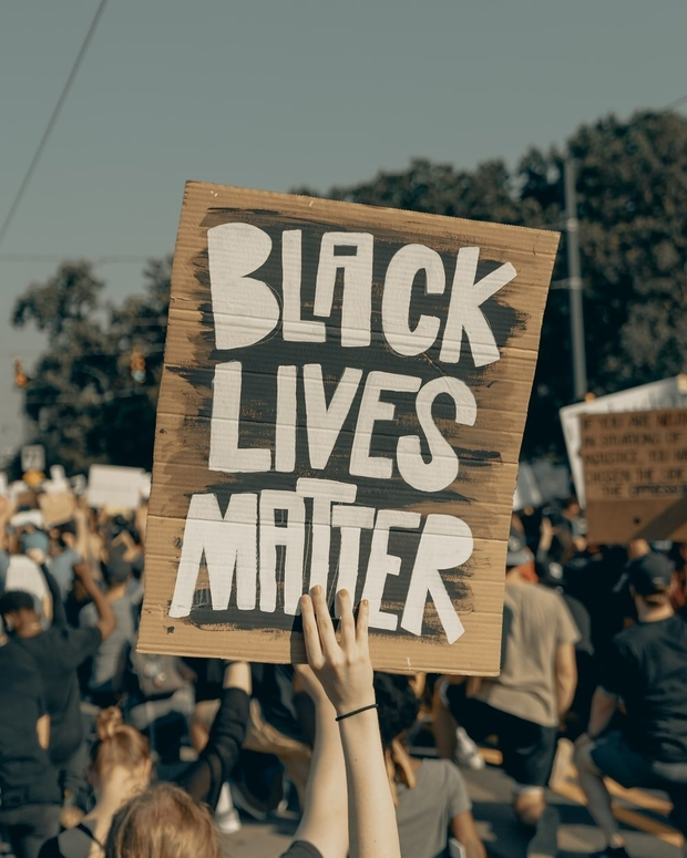 black lives matter sign