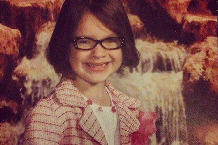 Photo of me as a child in glasses