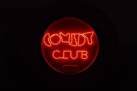 neon Comedy Club sign